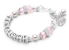 beaded name bracelets duchess baby children s name bracelet new