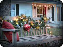 my christmas porch and entry decorations bench decoration and