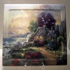 a new day dawning collector plate by kinkade seasons