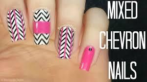 chevron tape nail art tutorial nail art tutorial pink mixed chevron nails stamping nail art