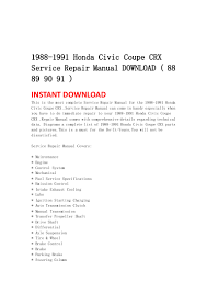 1988 1991 honda civic coupe crx service repair manual download 88 8 u2026