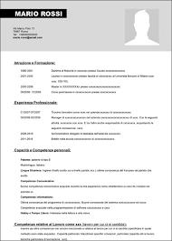 curriculum vitae europeo 2016 gratis modello curriculum vitae da compilare