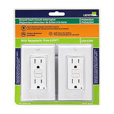 decora 15 amp tamper resistant slim gfci receptacle outlet with
