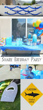 shark themed birthday party the happy scraps