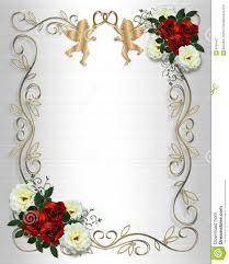 cadre photo mariage mariage de satin de roses d invitation de cadre illustration