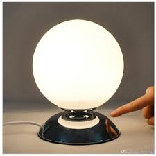 creative bedside lamp glass lampshade small ball table lamp night