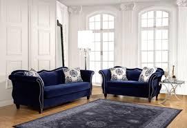 blue couch living room pcs royal blue sofa set