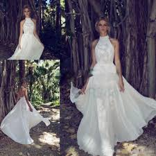 limor rosen 2017 country bohemian lace wedding dresses high neck