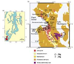 Earthquake Map Seattle by Nonlinear And Linear Site Response And Basin Effects In Seattle