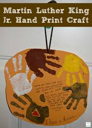 a fun and easy craft to do with children for martin luther king jr