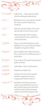 wedding reception itinerary stay on time on the big day planning your wedding reception timeline