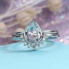 gold vintage engagement rings aquamarine engagement ring white gold vintage diamond wedding