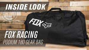 fox motocross gear bags fox racing podium 180 mx gear bag inside look youtube