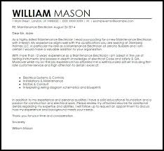 electrician cover letter cover letter example for an electrician