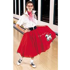 complete poodle skirt red u0026 white halloween