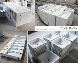 solid surface round wash basin stone counter basin toilet hand