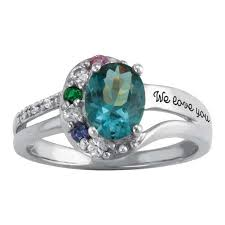 family birthstone rings sterling silver s bliss family simulated birthstone ring by