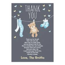 baby shower thank you cards baby shower thank you cards zazzle