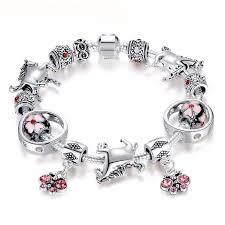 bracelet beads silver images Cherry blossom beads silver horse charm bracelet limited supply jpg