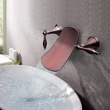 oil rubbed bronze bathroom sink faucet wall mount bathroom sink faucet ultra lever handles 0 ege sushi