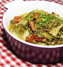 cuisine lentilles vertes potée de lentille verte du puy au chorizo sabarot