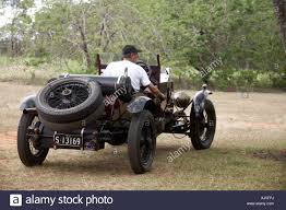 vauxhall australian old vintage vauxhall motor car being driven on dirt track outdoors