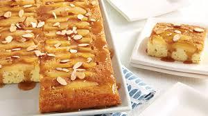 upside down poppy seed pear cake recipe bettycrocker com