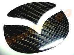 mazda logo real 3d glossy carbon fiber trunk logo insert for mazda cx 5 cx5