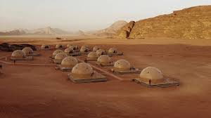 desert tent desert dome c in offers tourists the martian