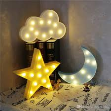 2017 lovely cloud moon light led marquee sign warm