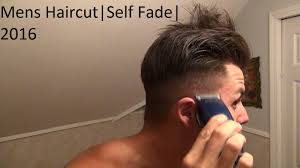men u0027s haircut 2016 self fade easy tutorial youtube