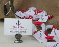 nautical wedding favors lifesaver bottle opener and anchor favor tag and card for a
