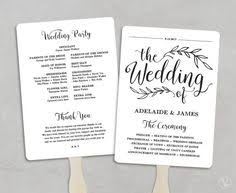 wedding programs fans templates wedding program fan template editable in by hopestreetprintables
