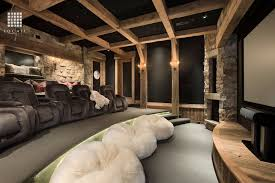rustic home interior rustic home theater with exposed beam by locati architects