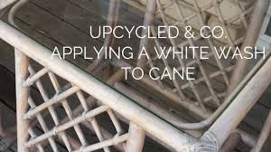 How To Clean Wicker Patio Furniture - how to apply a white wash to cane furniture youtube
