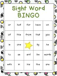 free beginning sight word bingo games frys free sight word