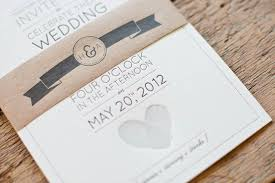 modern wedding invitations aaron s fingerprint heart wedding invitations