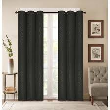 Thermal Energy Curtains 2 Panels Thermal Energy Saving Lattice Embossed Blackout