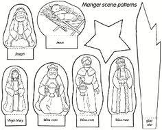 Primary Christmas Crafts - a fun free printable manger scene for you and your children to