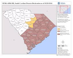Beaufort Sc Map South Carolina Hurricane Matthew Dr 4286 Fema Gov