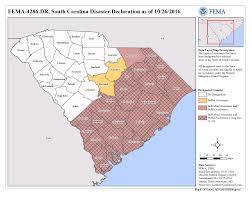 Map Of South Carolina Counties South Carolina Hurricane Matthew Dr 4286 Fema Gov