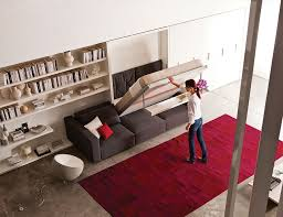 Designs Ideas  Space Saving Idea With Modern Murphy Bed Also Red - Space saving bedrooms modern design ideas