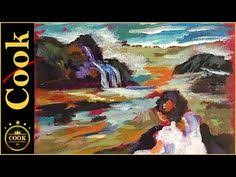 easy seascape acrylic painting beginners lesson clive5art