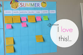 simple summer calendar using post it notes simply organized