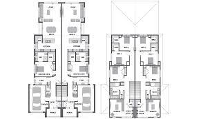 Duplex Floor Plans Australia Single Story Duplex House Plans Australia Dual Living Homesstory