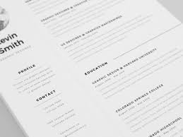 free minimalist resume designs free clean and minimal resume template creativebooster