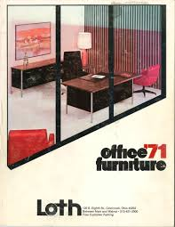 Office Furniture Brochure by 1971 Office Furniture Catalog Cover For Loth 125th Anniversary