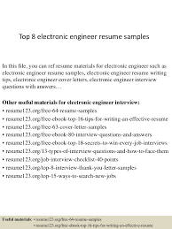 Resume Sample Electronics Technician by Top8electronicengineerresumesamples 150407031607 Conversion Gate01 Thumbnail 4 Jpg Cb U003d1428394611