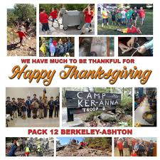 happy thanksgiving pack 12 cub scouts