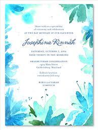 bas mitzvah invitations unique bat mitzvah invitations on plantable paper botanical